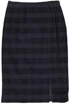 John Galliano Navy Velvet Skirt for Women