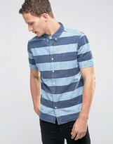 Element Short Sleeve Striped Shirt with Pocket