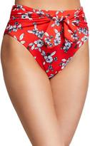 Veronica Beard Azoia Tie-Front Floral Bikini Bottom