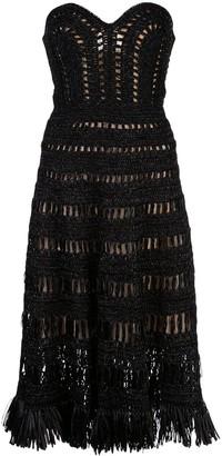 Oscar de la Renta Woven Midi Dress