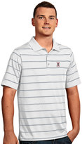 Antigua Men's Stanford Cardinal Deluxe Striped Desert Dry Xtra-Lite Performance Polo