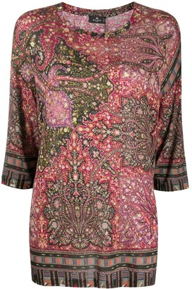 Etro Floral Paisley Pattern Jumper