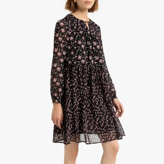 See U Soon Floral Print Boho Dress with Long Sleeves