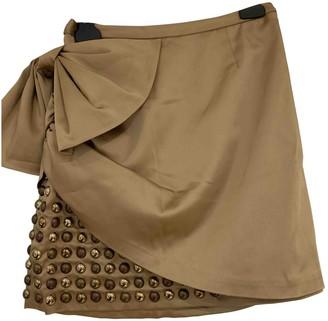 Manoush Gold Silk Skirts