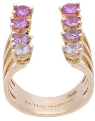 Delfina Delettrez 8 Dots pink sapphires ring