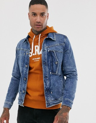 G Star G-Star Scutar slim fit denim jacket in blue