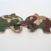 Camo Dandyrions Bear Coaster Set Of 2