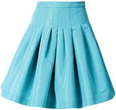 RED Valentino faille pleated skirt