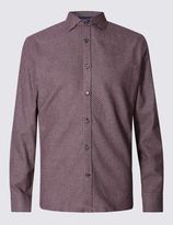 Marks and Spencer Tailored Fit Pure Cotton Long Sleeve Shirt