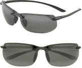 Maui Jim Men's 'Banyans - Polarizedplus2' 67Mm Sunglasses - Gloss Black / Neutral Grey