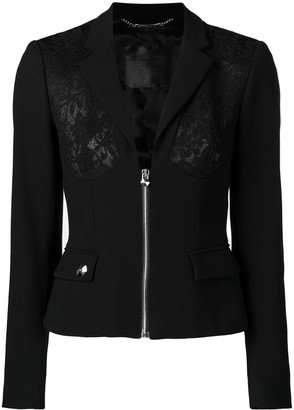 Philipp Plein lace panel jacket