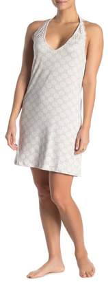 Nanette Lepore Printed Lace T-Strap Sleep Gown