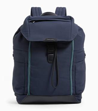 Paul Smith Leather Trim Backpack