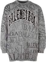 Balenciaga Oversized Logo Sweater