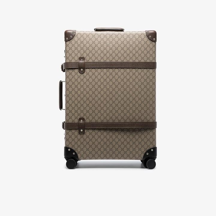 Gucci brown Globetrotter GG Supreme suitcase