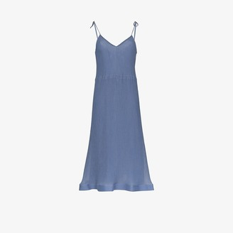 J.W.Anderson Trumpet Hem Pleated Slip Dress
