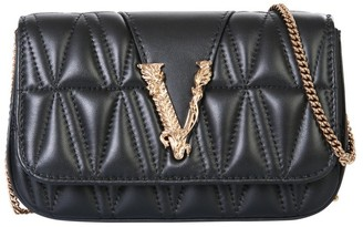 Versace Virtus Quilted Crossbody Bag