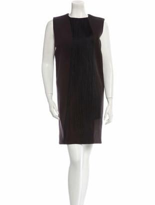 Lanvin Fringe Dress Black