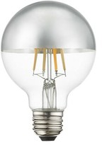 Livex Lighting 60 Watt Equivalent, G25 LED, Dimmable Light Bulb, Cool White (3000K) E26/Medium (Standard) Base