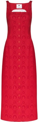 Marine Serre Moonogram jacquard pinafore dress