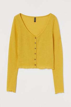 H&M Short Cardigan - Yellow