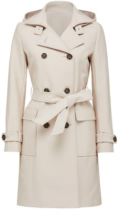 Forever New Jennie Long Trench Coat - Stone - 10