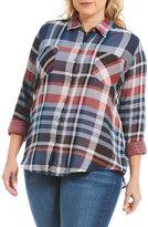 Westbound Plus 2 Pocket Boyfriend Shirt