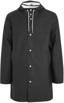 Stutterheim Stockholm Black Rubberised Raincoat