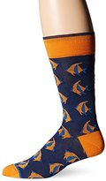 Bugatchi Men's Tropical Fish Fancy Sock