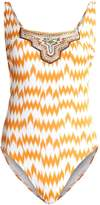 Watercult NOMADIC BEACH Swimsuit ecru/amber