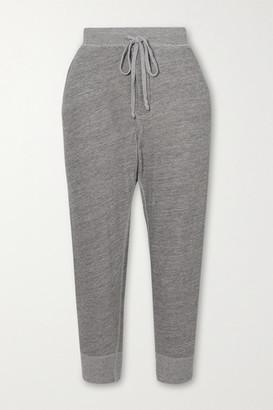 Nili Lotan Nolan Melange Cotton-blend Jersey Track Pants - Gray