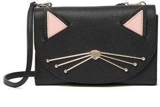 Kate Spade Winni Leather Cat Crossbody Bag