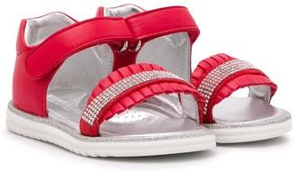 MonnaLisa Open Toe Touch Strap Sandals