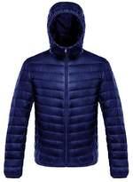 Ake Men's Packable Long Sleeve Hooded Down Puffer Jacket