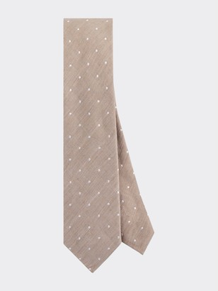 Tommy Hilfiger Slim Width Silk & Linen Dot Tie
