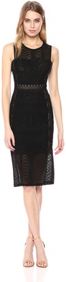 BCBGMAXAZRIA Azria Women's Sita Geometric Lace Dress