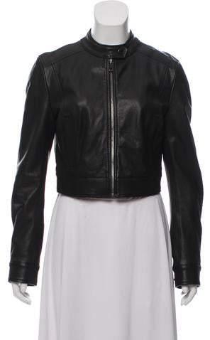 862eb5e38f9e Cropped Leather Jacket - ShopStyle