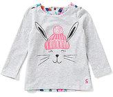 Joules Baby/Little Girls 12 Months-3T Mellow Long-Sleeve Rabbit Top