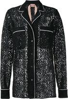 No.21 lace pyjama blouse - women - Silk/Cotton/Polyamide/Acetate - 36