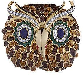 Kenneth Jay Lane Owl Brooch