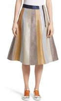 Mira Mikati Women's Glitter Panel A-Line Skirt