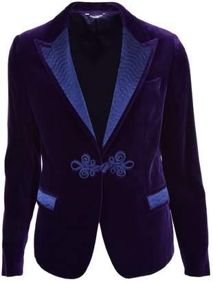 Dolce & Gabbana Purple Velvet Jackets