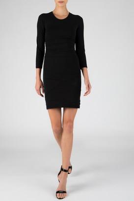 ATM Anthony Thomas Melillo Ruched 3/4 Sleeve Mini Dress