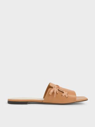 Charles & Keith Ribbon Tie Slide Sandals
