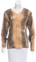 Roberto Cavalli Wool Printed Sweater
