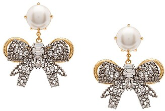 Miu Miu Pearl Bow Jewels earrings
