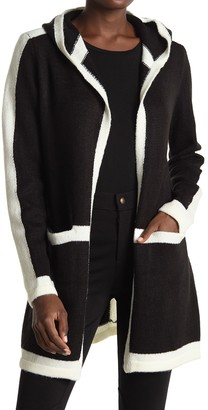 Love by Design Brandi Pipe Trim Hooded Cardigan