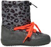 Stella McCartney Leopard Nylon & Faux Leather Snow Boots
