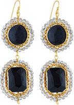 Nakamol Agate & Crystal Double-Drop Earrings