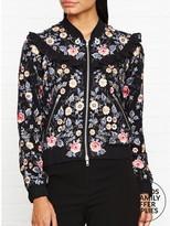 Needle & Thread Whisper Embroidered Bomber Jacket